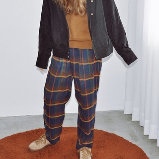 Checked woolen suit pants - Moon WOOLEN TAILORED TROUSERS IN LUNA CHECK