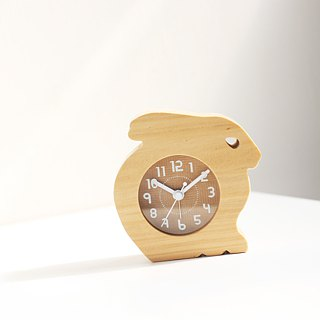 Wooden Rabbit  Table Clock