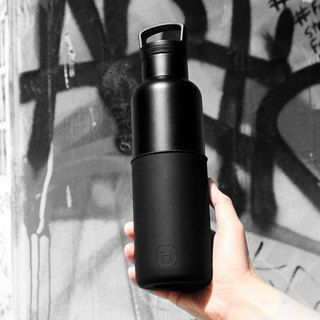 CIN CIN (BLACK-MIDNIGHT BLACK) 20 OZ,  Stainless Steel Water Bottle