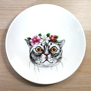 Customized pet hand-painted tray