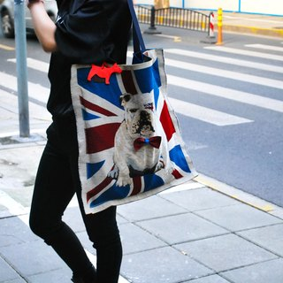 Britain led the knot cattle dog shoulder bag / mother bag / bags / gym bags / leather bag