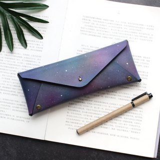 Star leather large capacity pencil bag leather pen case stationery bag glasses case can be customized graduation gift