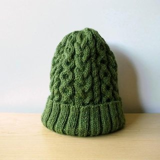 Alan knit hat Green