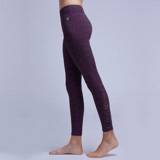 [MACACA] comfortable return twist pants - AQE7093 purple peach stripes