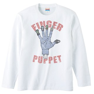 Long sleeve T shirt / finger puppet