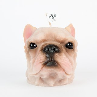 French Bulldog Candle - painted