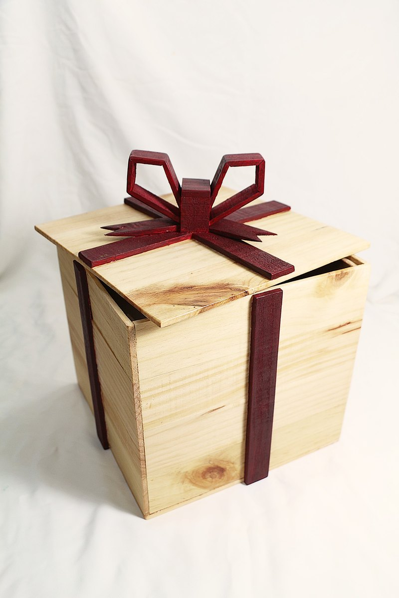 [Limited] belongs to you (u) gift box--handmade--hand made--wooden box--storage box - Board gluing