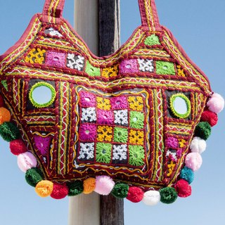 Hand Embroidered Cross-body Bag National Wind Pack Side Backpack Shoulder Bag Handbag Embroidery Bag - Desert Mirror