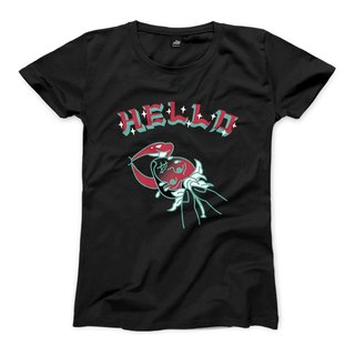 Eating a strawberry - Black - Women's T-Shirt