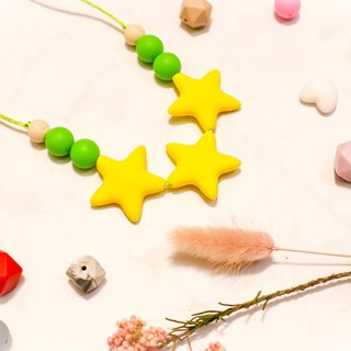 Silicone jewelry-yellow star
