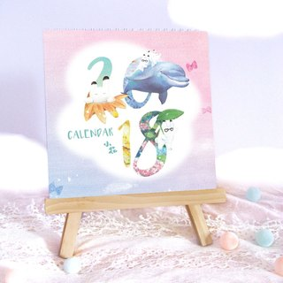 2018 hand-painted rabbit calendar calendar (send wooden frame)