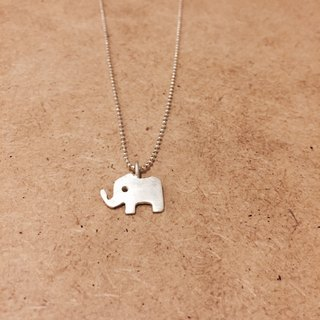 Happy Zoo Silver Necklace -Elephant