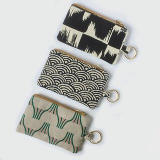 钥匙圈/零钱钞票钥匙包 - Minimalist - Unisex Slim Pocket Zip Purse