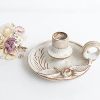 【Good day fetus】 Germany VINTAGE hand pottery candle holder