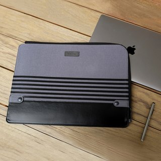 "Gritty | Ultra Slim Sleeve for MacBook Pro 15"" w/ USB-C & MacBook Air 13"" - Black"