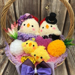 Spot - cute wool woven belt road chicken doll wedding engagement wedding small things wedding supplies