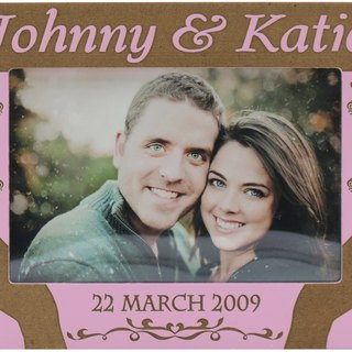 Customized carved wooden photo frame (4R photo) - the aspect relating to B x personalize