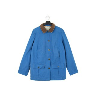 Back to Green :: LLBean Skirt Jacket Sky Blue vintage (L-11)