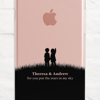 Add your Name and Message, Hand in Hand, Clear Case, iPhone X to SE, Samsung