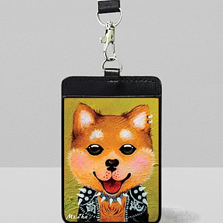 Leather documents set \ Love racing shiba dogs