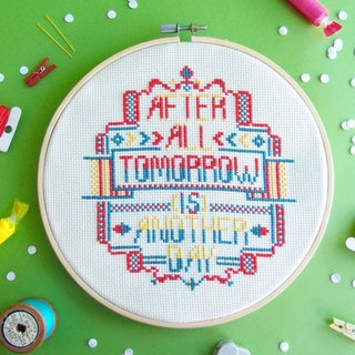 Funny Quote Cross stitch KIT - After All. Tomorrow is Another Day