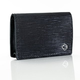 [La Fede] vegetable tanned - AQUA series - business card holder - classic black