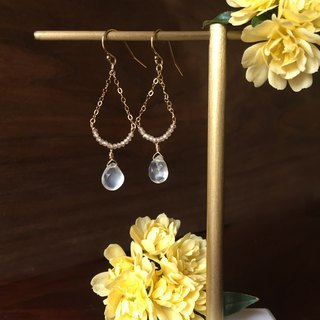 Handmade earrings zircon crystal lamp