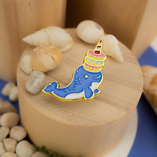 Narwhal Donuts Enamel Pin