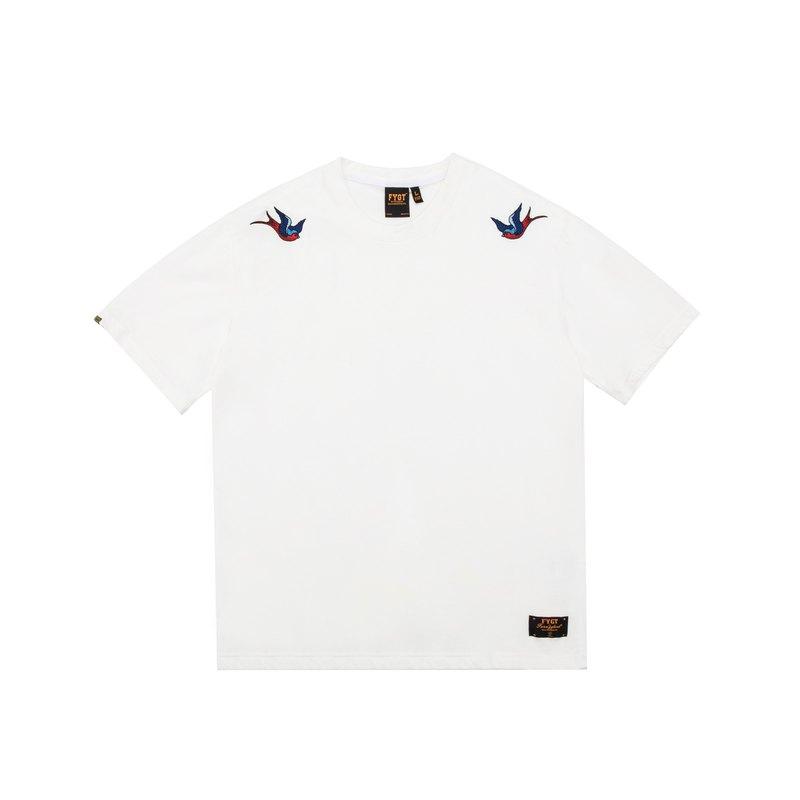 FYGT BRAND 19SS 改良款雙燕刺繡 國潮休閒寬松短袖T恤 男女款