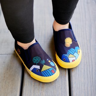 Parent-child fairy tale casual shoes - Black Hundred Waters Apartment Little Red Riding Hood and Big Wolf Vienna Tour (Children)