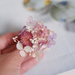 Exclusive Order - Customized Pink Purple Series Dry Flower Hydrangea Ring For dear stoneshih