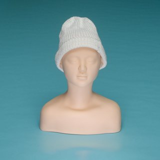 Plain - White OTB001 Hand Knitted Cap