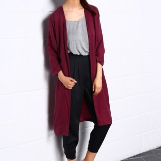 Night dance Long Coat In Red