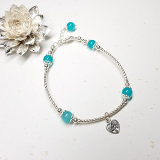 Love Tree Series - Tianhe Stone Sterling Silver Bracelet Amazonite