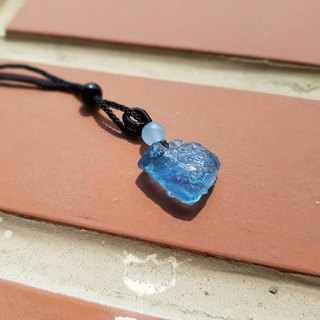 Girl Crystal World-【Original Awakening B】-Aquamarine Ore Necklace Chain Pendant Works