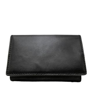 ACROMO Black Flap Card Holder