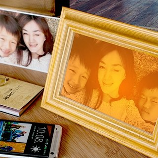 [Remembrance Day First Choice] White Oak Night Light Photo Frame Wedding Valentine's Day Mother's Day Preferred Photo Engraving
