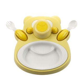 PLAStudio - Corn Children's Tableware - Honey Bear - Yellow