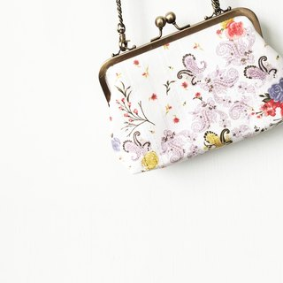 Flowers small clasp frame bag/with chain/ cosmetic bag / shoulder bag