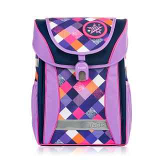 TigerFamily College Ultra Lightweight Nursing School Bag + Stationery Bag + Pencil Box - Elegant Purple