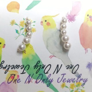 Classic Swarovski pearl earrings / Classic Swarovski pearl earring Ear clip-on or optional