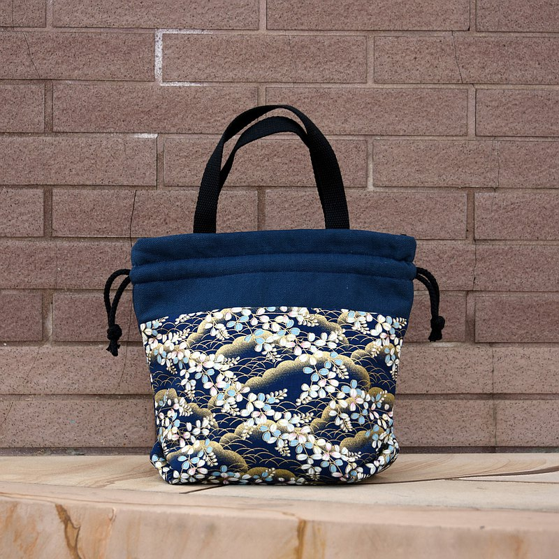 Three-in-one shoulder/cross-body/handy mouth bucket bag~ Japanese pattern (A92)