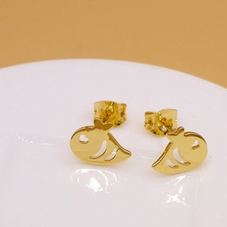 Handmade Little Bee Earring - 18K Gold plated on brass