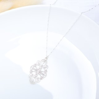 Secret Garden Filigree s925 sterling silver necklace Valentine's Day gift