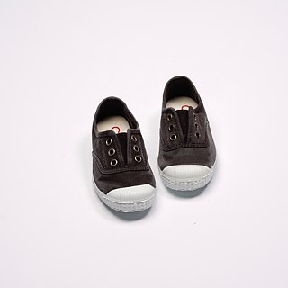 Spanish nationals canvas shoes CIENTA children's shoes size wash old black incense shoes 70777 01
