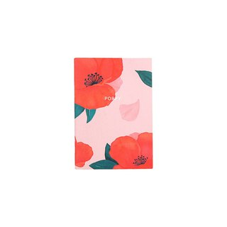 Flower bloom horizontal line notebook S size 02. A Furong