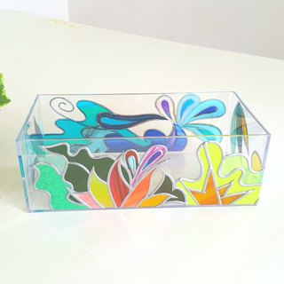 Order Glassart made Tissue case.  Ryukyu Island