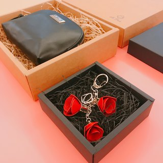 [La Fede] leather cosmetic bag + free rose pendant (limited sale on Mother's Day)