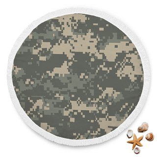 Army Pattern Beach Blanket