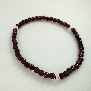 Limited product ★ ☆ purple teeth Ukraine (Garnet) Bracelet